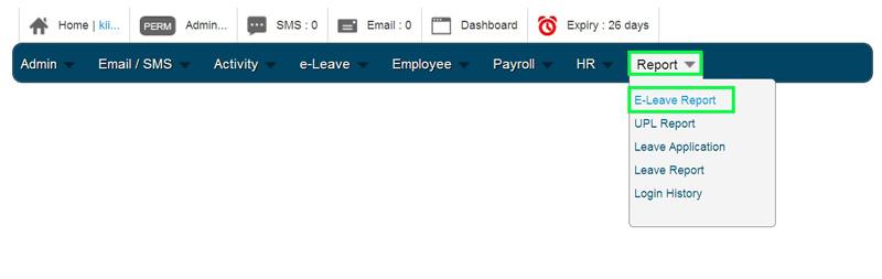 BMO e-Leave Homepage