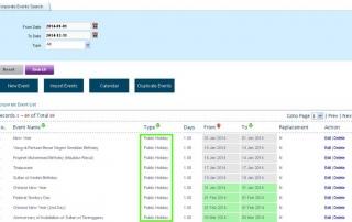 Online Leave Management System Holiday 2