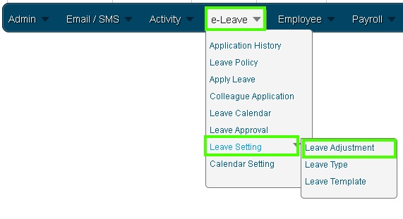Online Leave Management System Leave Adjustment 1