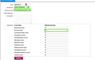 Online Leave Management System Leave Adjustment 2