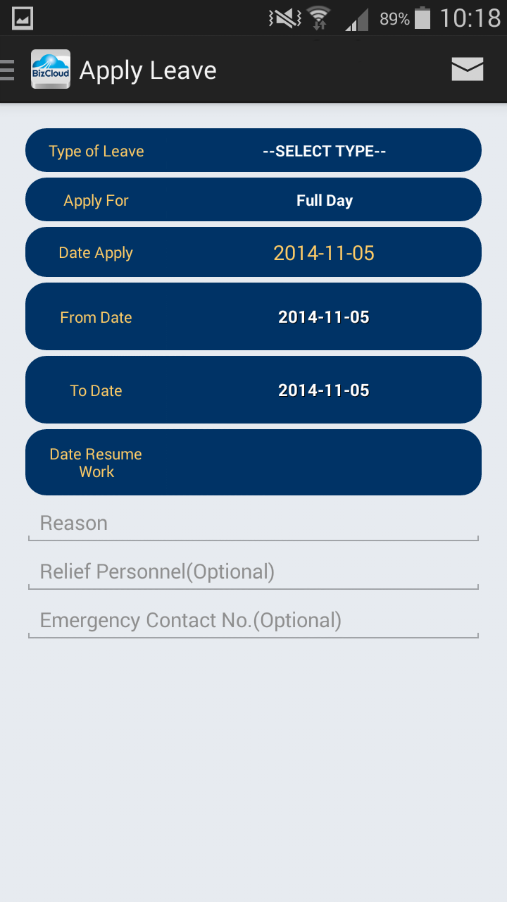 bmo android app leave time and claims management payroll online leave management system android app